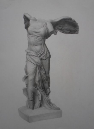 Winged victory cast drawing
