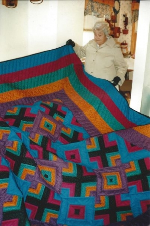 One of my students from my Hidden Wells quilt class. She made a King size quilt.