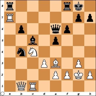 FM Steven Greanias has played Ra8 to trade off my active rook. White has an interesting tactical sequence here. Can you find it?