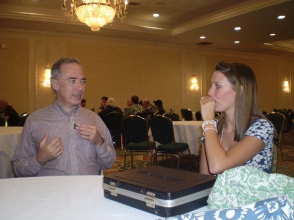With 17-year-old Kaleena Hutchins at the 2008 SPAH convention. That night she performed onstage with what I showed her.