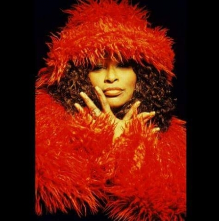 Chaka Khan wearing a Tuesday Conner Original Design.