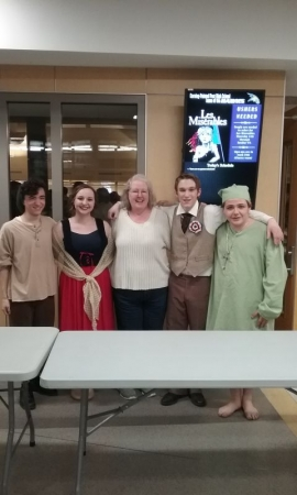 Some of my students in Les Miserables. March, 2017