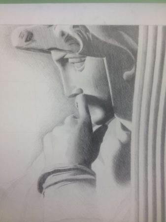 Freehand drawing for a Skyline High School Senior