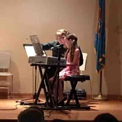"One of my sweet 6 year old students singing and playing ""Strawberry Fields Forever"" at the Beatles recital. #valeriebaileymusic"