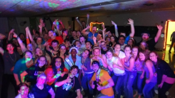 Just a quick shot from a high school dance I DJed