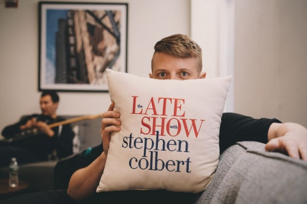 Backstage at the Late Show with Stephen Colbert.