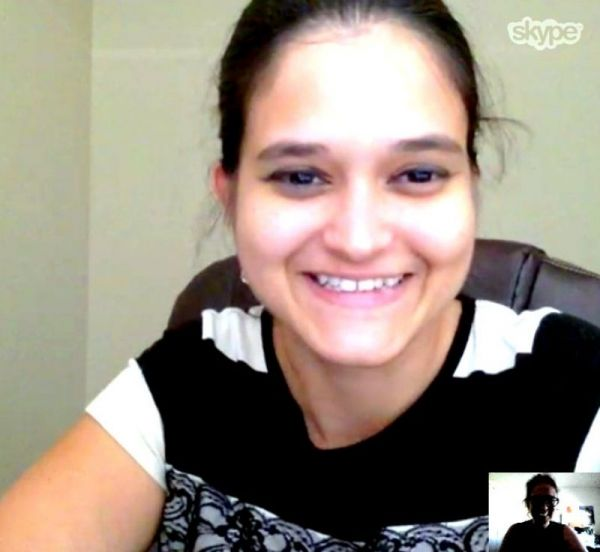 Teaching a Spanish lesson via Skype!