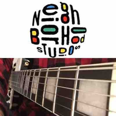 """A picture I took of my """"Traveller"""" guitar during a lesson at Neighborhood Studios!"""