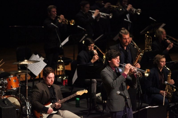 Soloing with the Lamont Jazz Orchestra