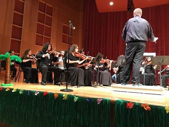 Conducting the Brazosport Community String Orchestra