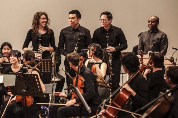 Playing Principal Clarinet with the Beijing International Chamber Orchestra
