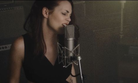 Screen shot of a cover video of mine