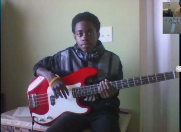 student bassist deandre