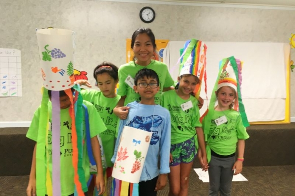 Leading a garden camp to ages 8-10 (summer 2017).