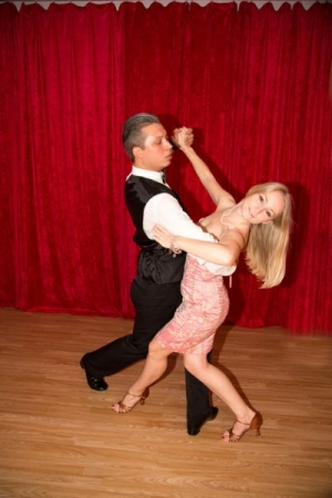 Ballroom dance lesson. Learn the proper hold.