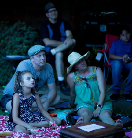 A family enjoys last year's laid-back Spring Recital