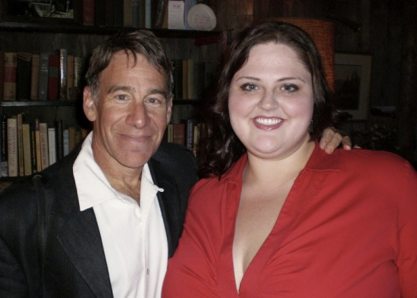 with Wicked composer Stephen Schwartz after singing the lead in  the first workshop of his first opera