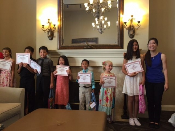 Here are some of Janice's piano students at the Summer 2017 recital in Claremont Place.