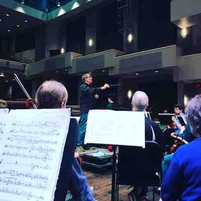 Rehearsal with Alexandria Symphony April 2017