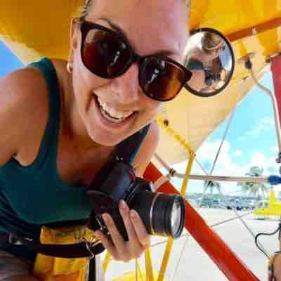 That time I spontaneously jumped in a 1938 Bi-plane to shoot the Florida Keys from above!