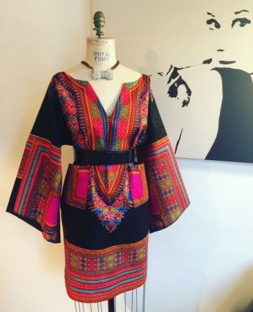 Dashiki style dress Designed and made by Me.