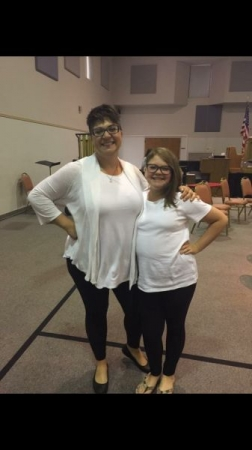 After a community band concert with one of my clarinet players