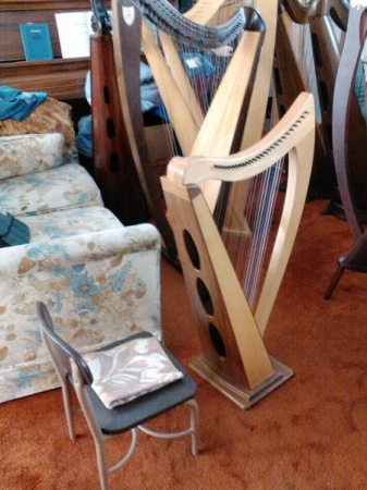 A smaller harp, perfect for a small child to learn on!