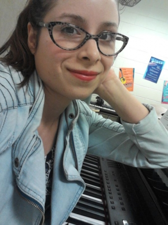 Arranging choral parts and practicing piano