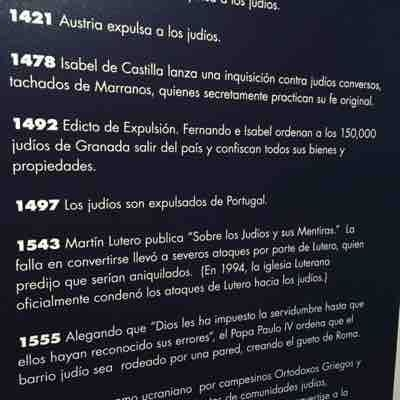 Museum in Texas with descriptions in Spanish.