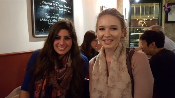 My student Katlyn and I met up in Paris for dinner !