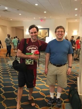 Me with my chess coach NM Peter Minear at the 2017 World Open in Philadelphia, PA.