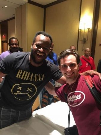 Me with a strong 2200 New York blitz player at the 2017 World Open in Philadelphia, PA.