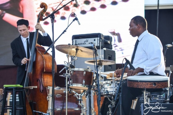 Playing at the Clearwater Jazz Holiday