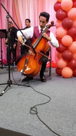 Playing cello at Word in Action Church