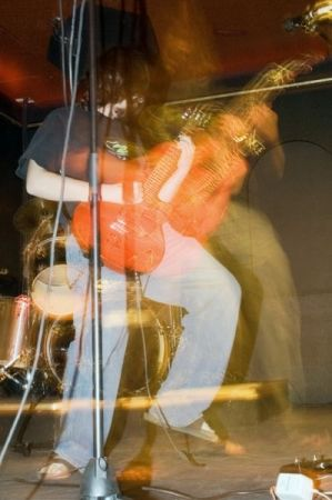 Performing with my old band in college.