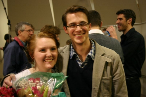 Me with my college voice teacher