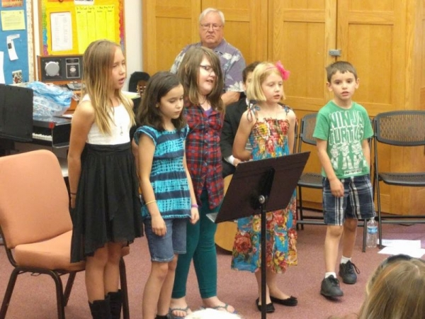 My little Chorister group (from my church FPC) singing at my last recital