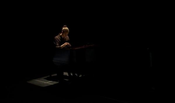 This is a pic from my interdisciplinary performance of the Ninth Prokofiev Sonata!