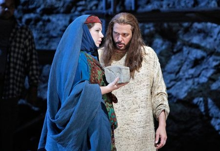 With baritone Nathan Gunn in The Gospel of Mary Magdalene at the San Francisco Opera