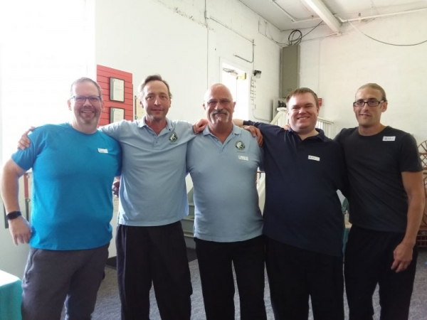 Some of the gentlemen in our instructors training class. Congratulations!