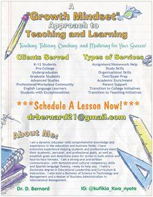 """A """"Growth Mindset"""" Approach to Teaching and Learning!"""