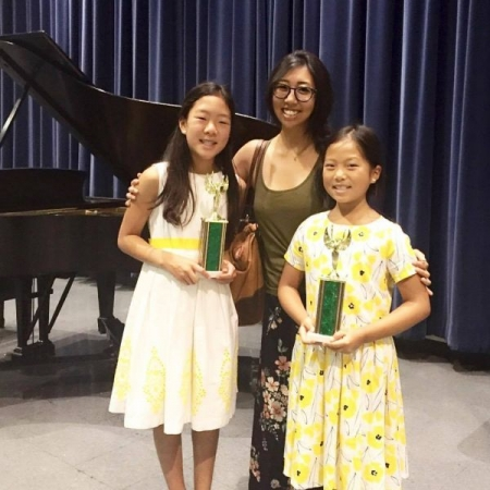My students Avery (11yrs) and Samantha Kim (9yrs) won first place in their competition at the SYMF competition in July of 2017!