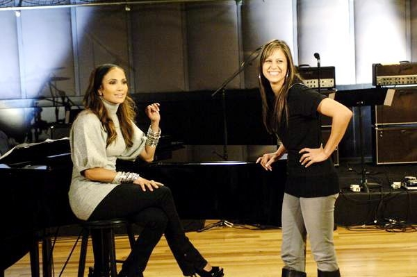Jennifer Lopez and I in rehearsal