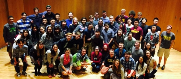 My students and me after one of my concerts at the University of Minnesota.