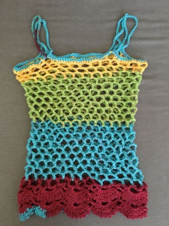 """Net"" Cami (Crochet) Chain, Single, Double, Shells/Scallops, Picots"