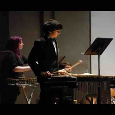Playing four mallets vibraphone with Brooklyn College's Wind Ensemble