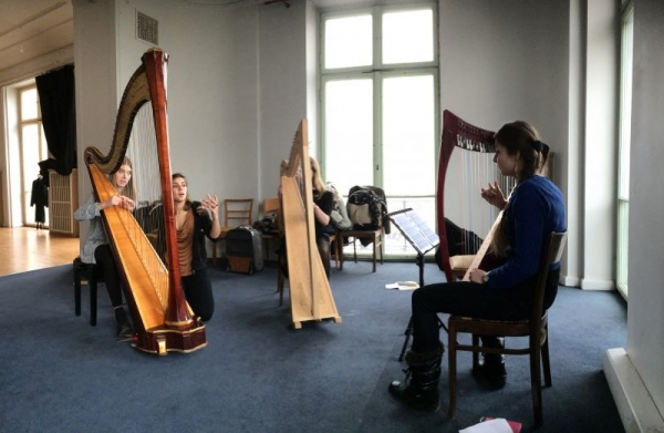 Harp workshop in Warsaw (Poland) - January 2017