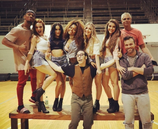 """That's a wrap on """"Crazy For The Boys!"""" Here w the stars and creative team."""