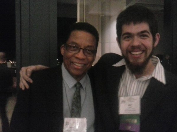 Meeting Herbie Hancock after being awarded the Hal Leonard Scholarship from the Jazz Education Network: January 2015