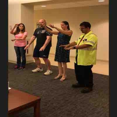 Signing a fun song together (artistic interpreting) in American Sign Language